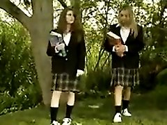 Schoolgirls Making Out