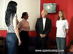 Pretty girl spanked otk with her panties ripped down - cries of pain and shame