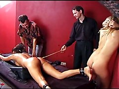 Cries and tears of pain - young lovely suspended and whipped on her naked ass