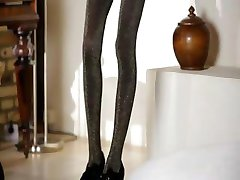 Ultra beautiful skinny girl undress