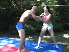 Very hot fight, girl gets humiliated