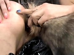 Puppyplay sub obeying her master