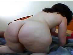 Chubby young doll rides dick and eats fresh jizz