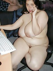Exclusive Colette busty brainy babe at her desk