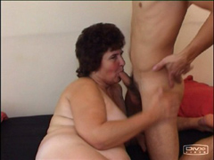 Fat mature ho goes down on a fresh piece of meat