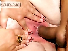Fat matures Louise and Mindy lick tits and play with cunts while getting screwed in this...