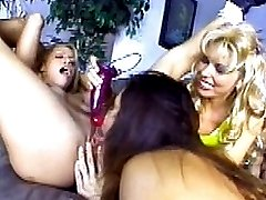 Six wild babes and furious lesbo fucking