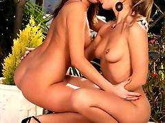 Two hot licking lesbians fucking