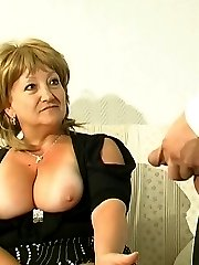 Plump mature babe having freaky oral entertainment with her eager co-worker