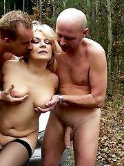 Horny blonde mature nature loving cocksucker