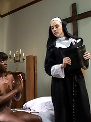 Ana Foxx has led a life of sin where shameless masturbation was the norm in her life until she chooses to join the nun hood. Looking to change her life completely she trades her favorite sex toy for her first bible and swears to a life void of filth. When Mother Superior Preston discovers this dirty secret it opens up a side of her that insists she\'s the chosen one and in order to make it day to day in the convent she must pay the biggest price submitting to Mother Superior\'s every whim! Spanking, candle wax, heavy paddling, single tail whipping, strap-on fucking in unforgiving stocks, nipple tortures, ass licking and much more!