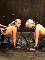 Live Show Mondays brings you the start of the December live show that featured Tara Lynn Fox, Mellanie Monroe, and co-top Isis Love. The live show starts as most live shows start, interviewing, meeting the models and the bondage getaway challenge. This challenge is the best way to warm the girls up for the 3 hours of live BDSM to cum.  Both girls have been renamed for the show, Mellanie to \