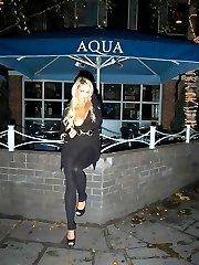 Stephanie flashing at night