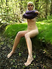 Danielka had decided to take a walk in the woods behind her house the other day but as she got hotter and hotter she realized that she was going to have to find a way to cool herself down!