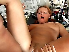 Two girls play with a cock in their butts