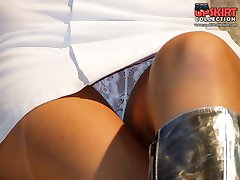 Babes with hot upskirts sexily pose