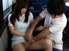 Yua Kuramochi Asian in short skirt is touched PublicSexJapan.com