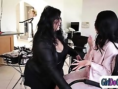 Busty lesbian Eva Angelina and her sexy friends go for a threesome and get nasty with sextoys