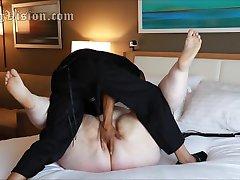 A2M SSBBW Esposa Anal Doble Penetración Consolador