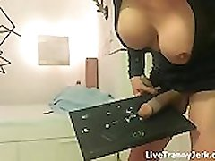 huge cock shemale cums