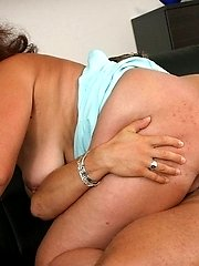 This dude gets wild on his mature big titty lover