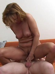 Young, loving son is fucking his mother�s horny pussy!
