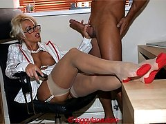Dominant sexy boss Lana Cox couldnt wait to bully her new office hunk, and then tease his big...