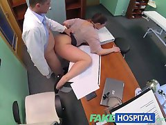 FakeHospital Horny saleswoman strikes a deal with the dirty doctor