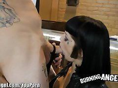 Burning Angel High Heels Fetish Fucking With Hot Goth Girl