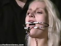 Blonde submissives bizarre facial torture and gagged slavegirls extreme sm