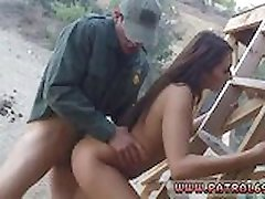 Lesbian police strip Brunette gets pulled