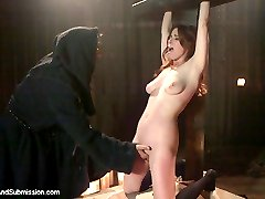 Penny lives out her fantasy as the Adulteress who is punished and humiliated by a cruel priest...