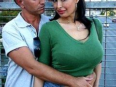 MILF bombshell gets her huge tits creamed