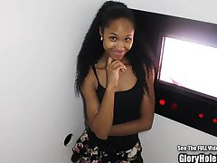 Petite Ebony Beauty Nice Ass Glory Hole Blowjobs