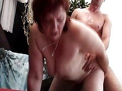 Shy Redhead MILF Gags On A Thick Cock