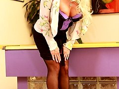 Alexis Diamonds is one horny milf. These older blondes seem to