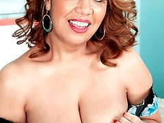 Big-titted Mexican Milf Sucks Dick