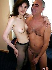 Skinny slut loves big cock