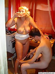 Hot MILF gets drunk and fucked