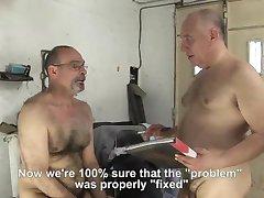 mechanic treats car and driver