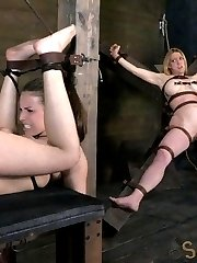 Casey Calverts new favorite way to get her throat fucked hard and deep is upside down. Impaled...