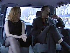 Priscilla threesome in Taxi