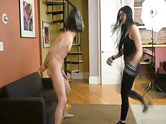 Human punching bag for domina Jade Indica