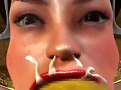 3d hentai deepthroat part 3