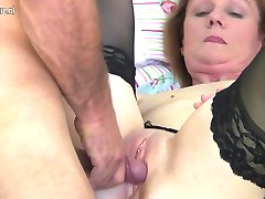 Mature mama fucking the boy next door
