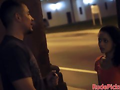 Stranded petite babe hardfucked while tiedup