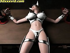 Hentai-3D Electro Mask VS The White Pussy