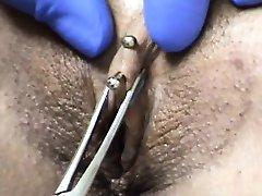 Clitoral hood piercing