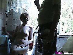 Mature Wife Jerks Off Husbands Dick Until He Cums