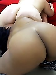 Two stacked black BBWs drink up one lucky guy039s hot sperm